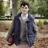 Varsity Vest in Navy by Southern Proper  - 4