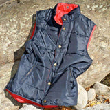 Reversible Vest in Navy and Red by Castaway Clothing  - 4