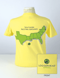 Women's Southern Nesting Grounds Tee in Canary Yellow by Loggerhead Apparel  - 2