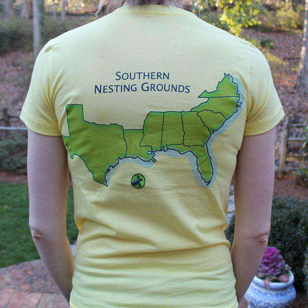 Women's Southern Nesting Grounds Tee in Canary Yellow by Loggerhead Apparel  - 1