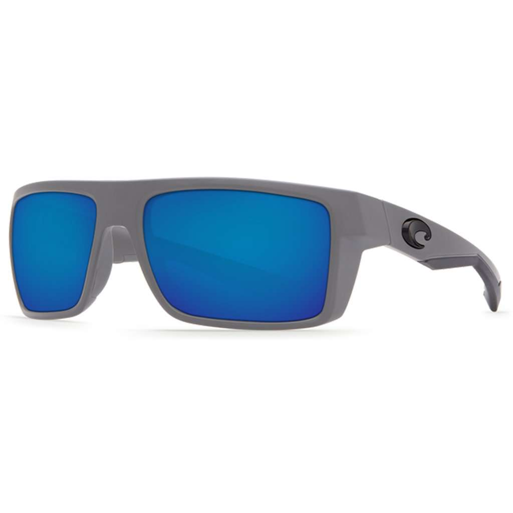 1dee44ded3 Costa del Mar Motu Sunglasses in Matte Gray with Blue Mirror Polarized  Glass Lenses – Country Club Prep