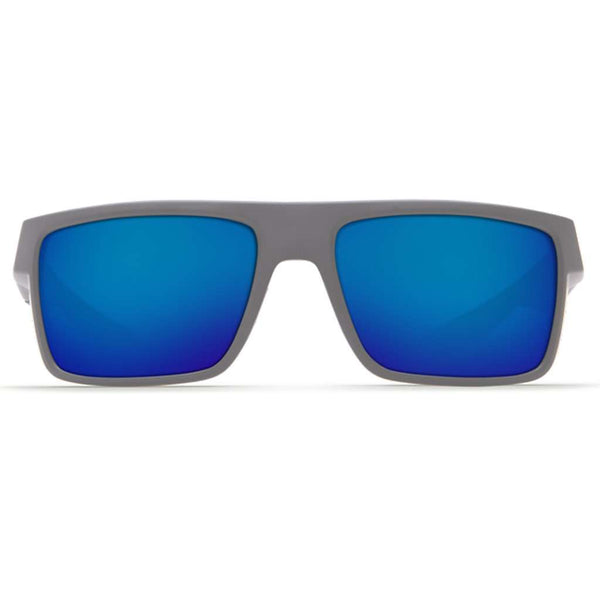 Motu Sunglasses in Matte Gray with Blue Mirror Polarized Glass Lenses by Costa del Mar