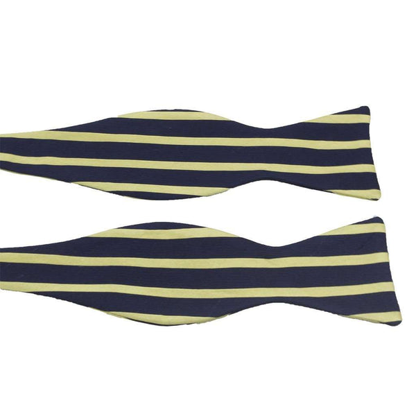 Navy and Gold Sailor Stripe Bow Tie by Anchored Style