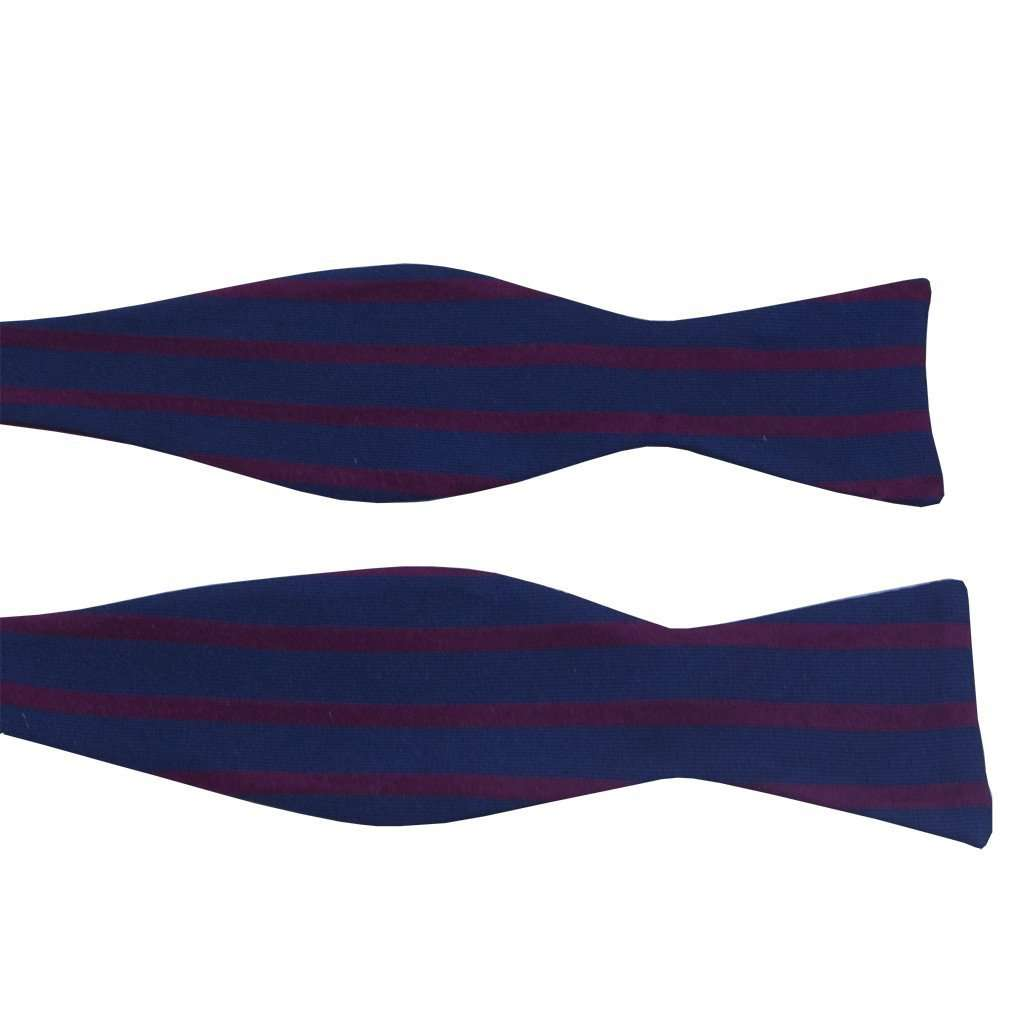 Navy and Red Sailor Stripe Bow Tie by Anchored Style