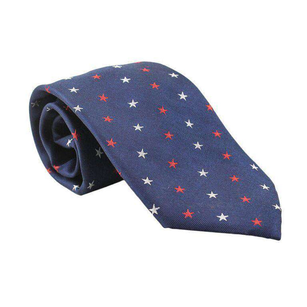 Neck Ties - 50 Stars Tie In Navy By Southern Proper