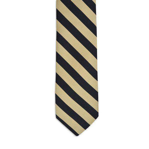 Neck Ties - All American Stripe Neck Tie In Black And Gold By High Cotton