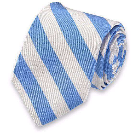 Neck Ties - All American Stripe Neck Tie In Carolina Blue And White By High Cotton