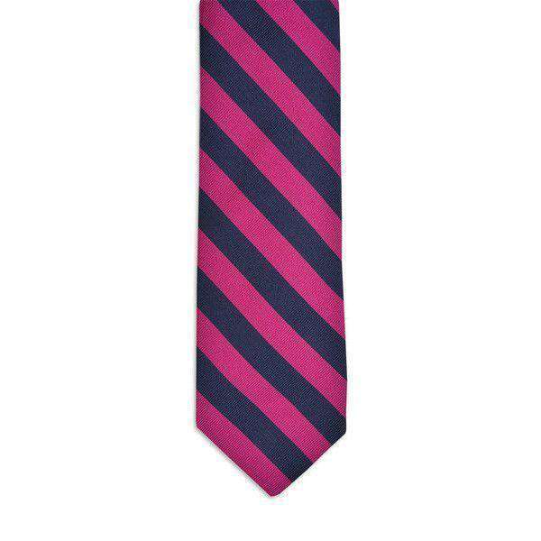 Neck Ties - All American Stripe Neck Tie In Pink And Navy By High Cotton