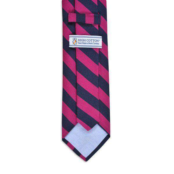 All American Stripe Neck Tie in Pink and Navy by High Cotton