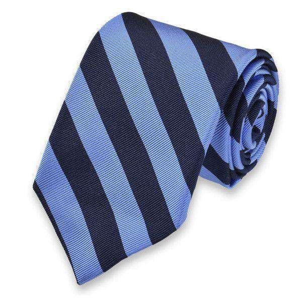 Neck Ties - All American Stripe Neck Tie In Royal Blue And Navy By High Cotton