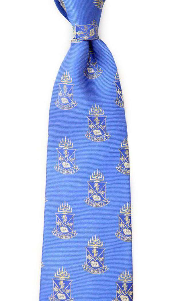 Neck Ties - Alpha Epsilon Pi Neck Tie In Blue By Dogwood Black