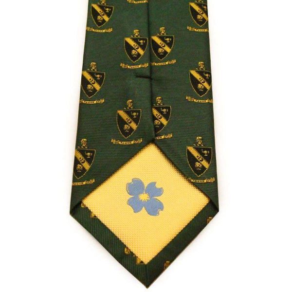Neck Ties - Alpha Gamma Rho Neck Tie In Hunter Green By Dogwood Black