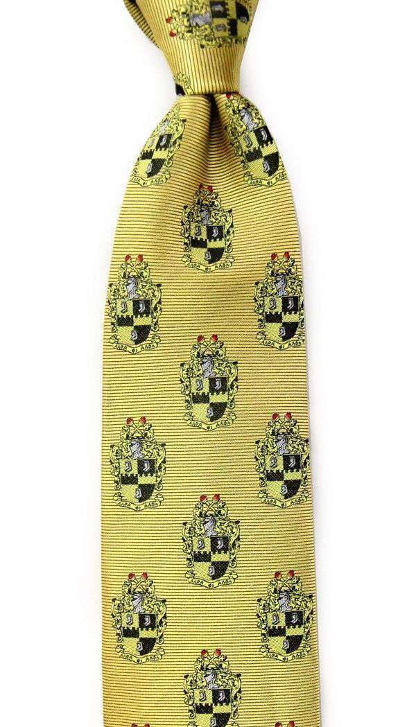 Neck Ties - Alpha Phi Alpha Neck Tie In Gold By Dogwood Black
