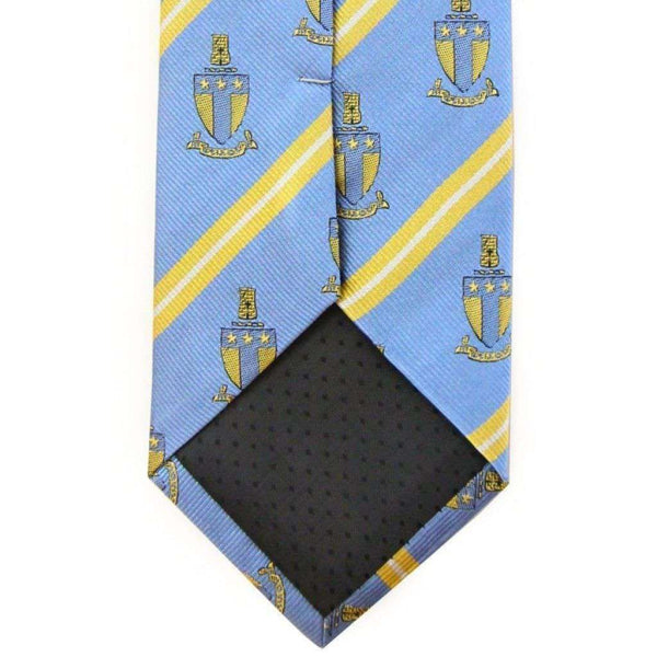 Alpha Tau Omega Neck Tie in Light Blue Stripe by Dogwood Black