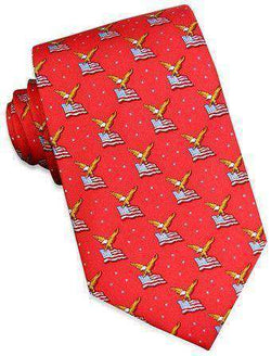 Neck Ties - America! Tie In Red By Bird Dog Bay