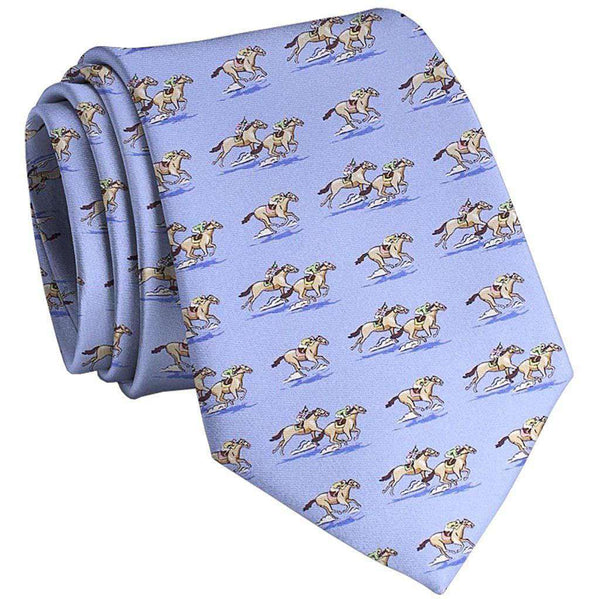 And They're Off Tie in Blue by Bird Dog Bay - FINAL SALE