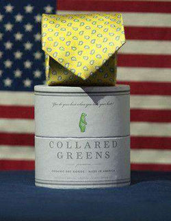 Neck Ties - Azalea Tie In Yellow By Collared Greens