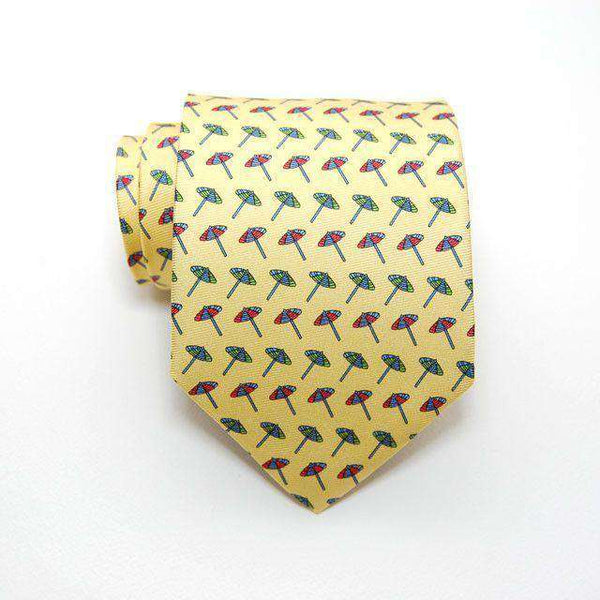 Beach Umbrella Tie in Yellow by Peter-Blair
