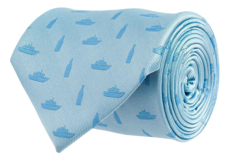 Neck Ties - Booze Cruise Tie In Light Blue By Southern Proper