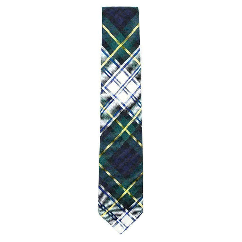 Neck Ties - Bordeaux Wool Neck Tie In White & Forest Green Tartan By Res Ipsa