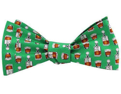 Neck Ties - Bourbon Bow Tie In Green By Salmon Cove