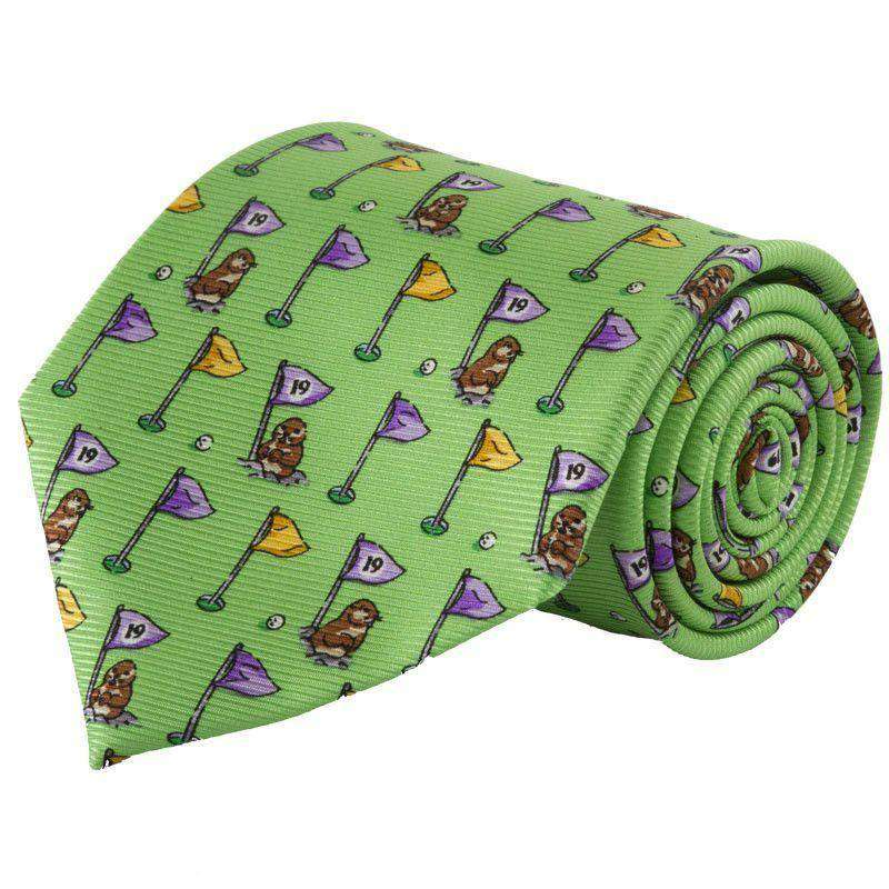 Neck Ties - Caddyshack Tie In Green By Southern Proper