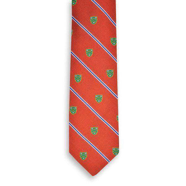 Caldwell Neck Tie in Orange by High Cotton