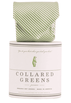 Neck Ties - CG Stripes Tie In Green By Collared Greens