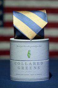 Neck Ties - Chattahoochee Tie In Yellow/Blue By Collared Greens