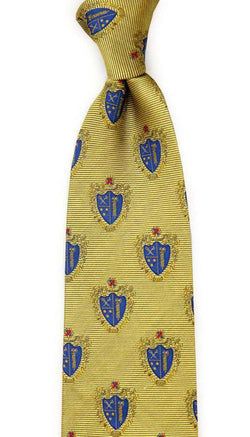 Neck Ties - Chi Phi Neck Tie In Gold By Dogwood Black