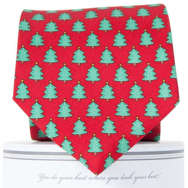 Christmas Trees Tie in Red by Collared Greens