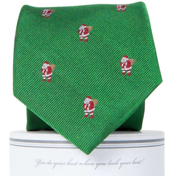Classic Santa Tie in Holly Green by Collared Greens