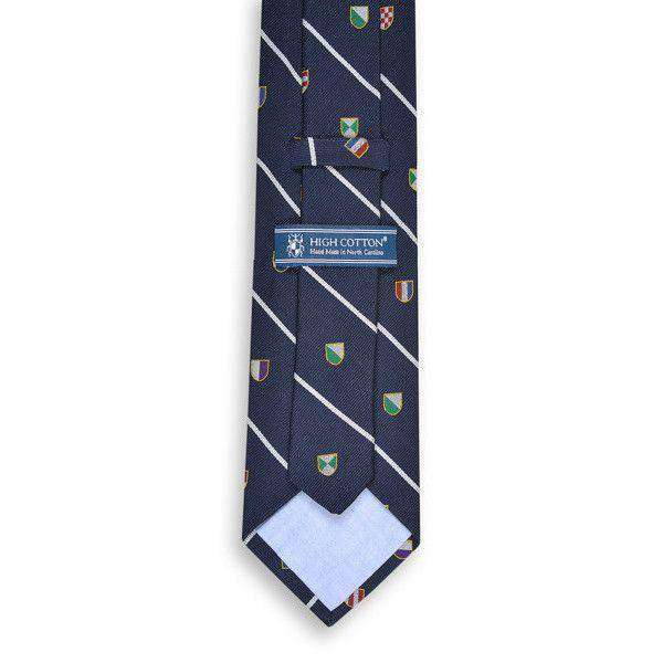 Neck Ties - Club Master Neck Tie In Navy By High Cotton