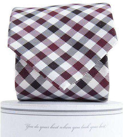 Neck Ties - Collegiate Quad Neck Tie In Garnet And Black By Collared Greens