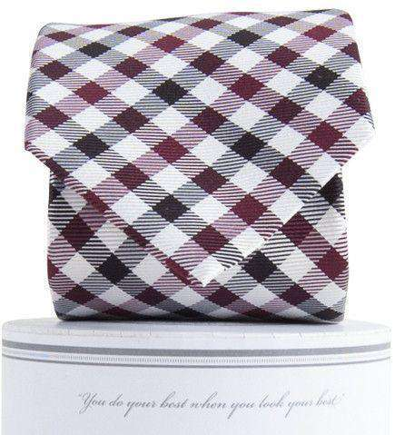 Collegiate Quad Neck Tie in Garnet and Black by Collared Greens