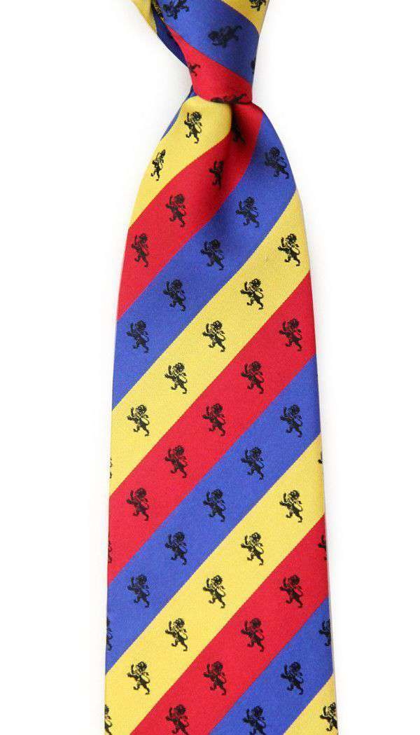 Neck Ties - Delta Kappa Epsilon Tri-Color Neck Tie By Dogwood Black
