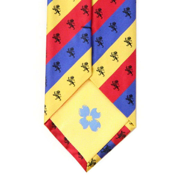 Delta Kappa Epsilon Tri-Color Neck Tie by Dogwood Black
