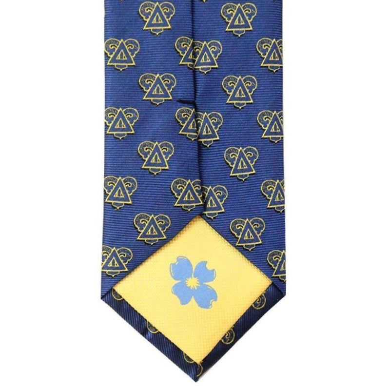 Neck Ties - Delta Upsilon Neck Tie In Saphire Blue By Dogwood Black
