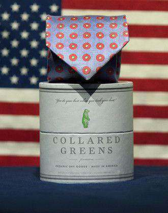 Neck Ties - Dogwood Tie In Blue By Collared Greens