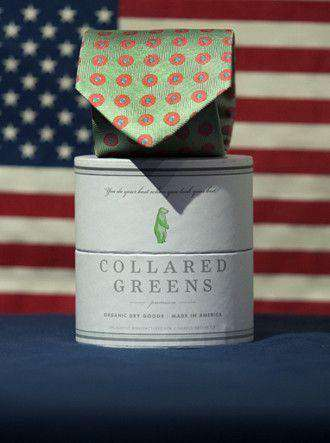 Neck Ties - Dogwood Tie In Green By Collared Greens