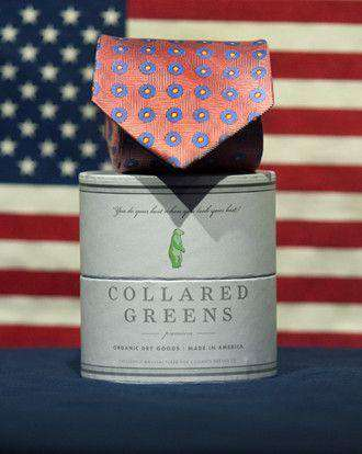 Neck Ties - Dogwood Tie In Red By Collared Greens