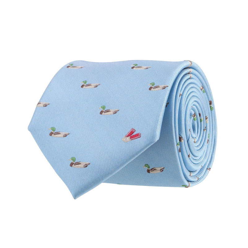 Neck Ties - Ducks And Shells Tie In Light Blue By Southern Proper