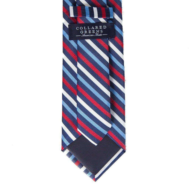 Eastwood Tie in Navy & Red by Collared Greens - FINAL SALE