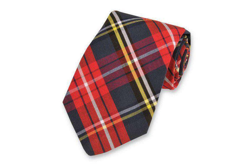 Neck Ties - Fletcher Plaid Necktie By High Cotton