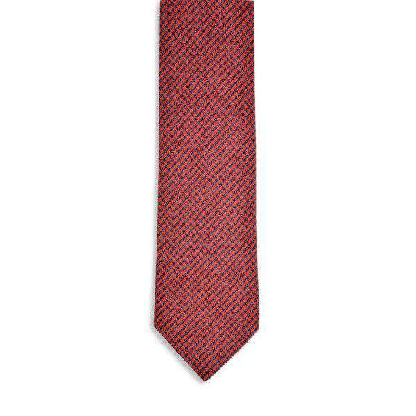 Foxhound Necktie in Red by High Cotton