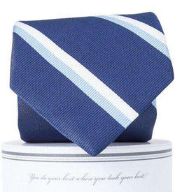 George Neck Tie in Navy and Carolina Blue by Collared Greens