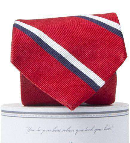 George Neck Tie in Red and Navy by Collared Greens