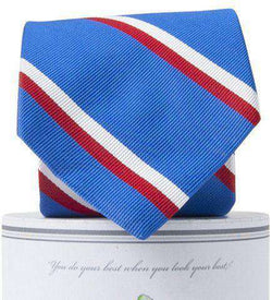 George Neck Tie in Royal Blue and Red by Collared Greens