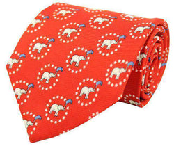 Neck Ties - GOP Gent Tie In Red By Southern Proper
