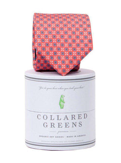 Neck Ties - Greenbrier Tie In Washed Red By Collared Greens